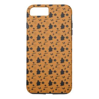 Coque iPhone 7 Plus Conception orange de Halloween