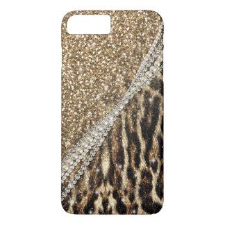 Coque iPhone 7 Plus Copie animale de fourrure de faux de beau léopard