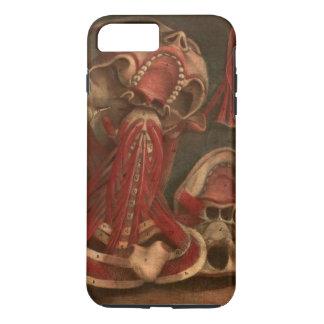 Coque iPhone 7 Plus Cou vintage et visage de l'anatomie |
