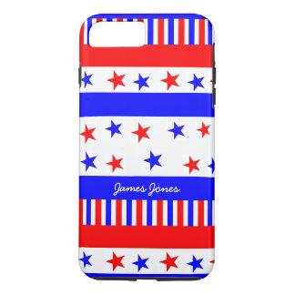 Coque iPhone 7 Plus Couleurs lumineuses de drapeau des Etats-Unis de