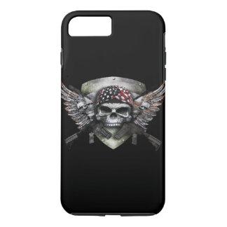 Coque iPhone 7 Plus Crâne militaire avec la guerre croisée de Special