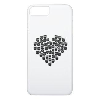 Coque iPhone 7 Plus crânes du coeur X