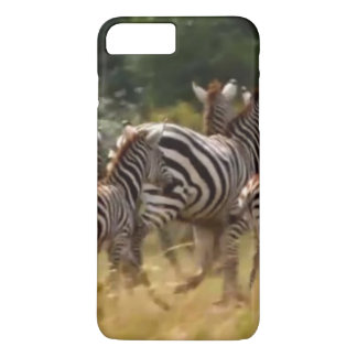 Coque iPhone 7 Plus Créez votre propre zèbre africain sur la course