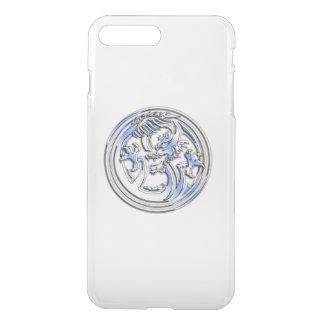 Coque iPhone 7 Plus Crête de dragon de chrome sur l'espace libre