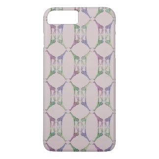 Coque iPhone 7 Plus Diamant de girafe