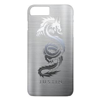 Coque iPhone 7 Plus Dragon d'effet d'acier inoxydable