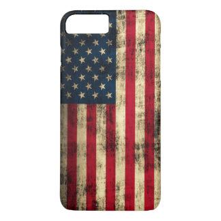 Coque iPhone 7 Plus Drapeau américain grunge