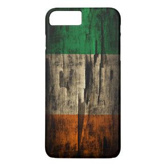 Coque iPhone 7 Plus Drapeau grunge d'Irlandais de peinture