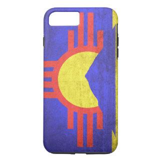 Coque iPhone 7 Plus Drapeau grunge vintage de Roswell Nouveau Mexique