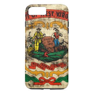 Coque iPhone 7 Plus Drapeau grunge vintage d'état de la Virginie