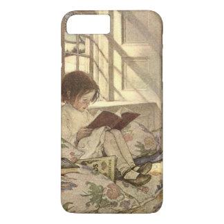 Coque iPhone 7 Plus Enfant vintage lisant un livre, Jessie Willcox