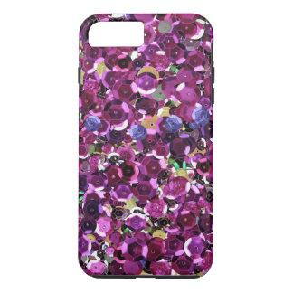 Coque iPhone 7 Plus Épreuve photographique rose magenta de paillette