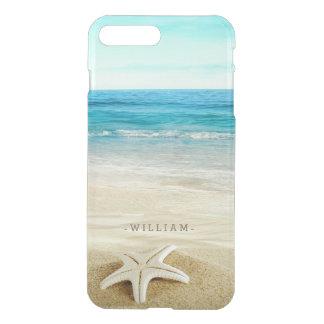 Coque iPhone 7 Plus Étoiles de mer de plage sablonneuse