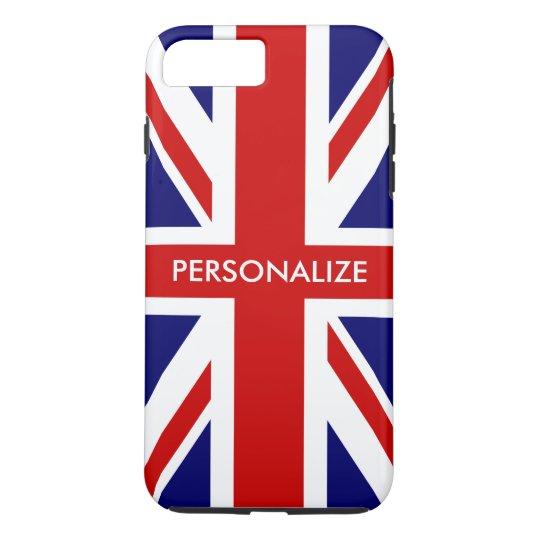 Coque iPhone 7 Plus Fierté anglaise de drapeau britannique d'Union
