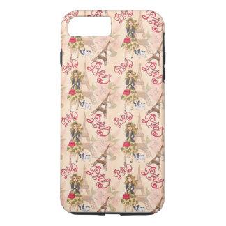 Coque iPhone 7 Plus Fille de mode dans le motif de Paris