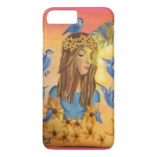Coque iPhone 7 Plus Fille et oiseaux