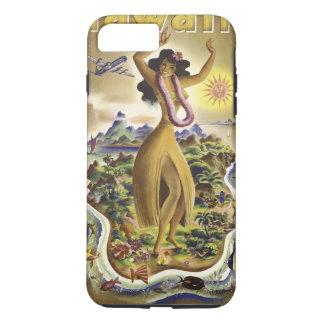 Coque iPhone 7 Plus Hawaï vintage 2