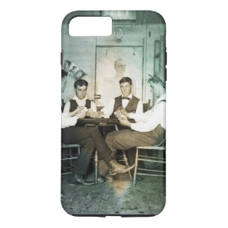 Coque iPhone 7 Plus Hommes 1890 de jeu de poker jouant la photo de