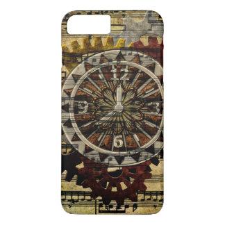 Coque iPhone 7 Plus Horloges grunges et vitesses de Steampunk