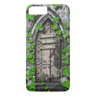 Coque iPhone 7 Plus Il y ait le Roi Arthur Medieval Dragon Door de