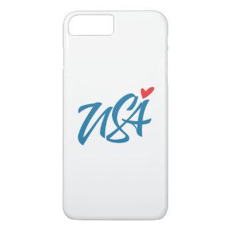 Coque iPhone 7 Plus J'aime les Etats-Unis