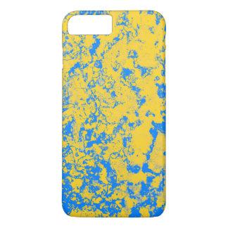 Coque iPhone 7 Plus jaune et bleu