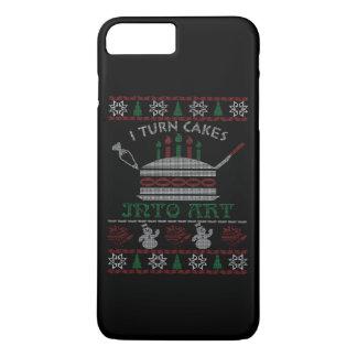 Coque iPhone 7 Plus Je transforme des gâteaux en art - Noël