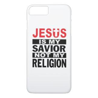 Coque iPhone 7 Plus Jésus est mon sauveur non ma religion