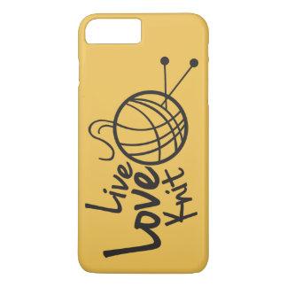 Coque iPhone 7 Plus Knit vivant   d'amour tricotant