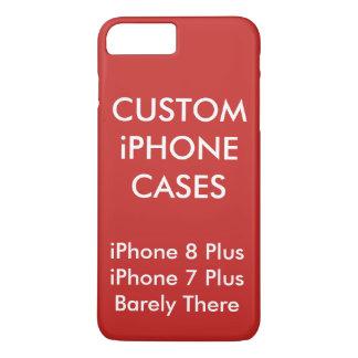 Coque iPhone 7 Plus La coutume a personnalisé l'iPhone 8 plus 7 plus