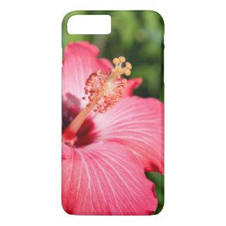 Coque iPhone 7 Plus Le Michigan, Dearborn. Détail de ketmie rose