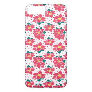 Coque iPhone 7 Plus Le motif de poinsettia