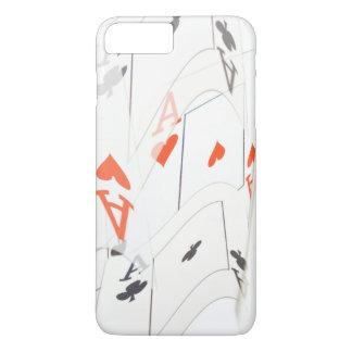 Coque iPhone 7 Plus Le quadruple Aces le motif de cartes de tisonnier,