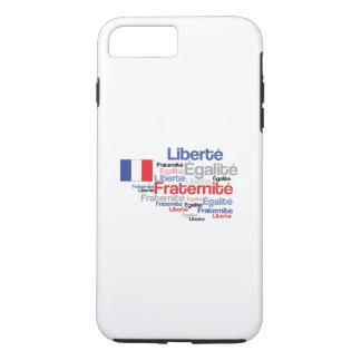 Coque iPhone 7 Plus Liberté, Égalité, Fraternité - drapeau français de