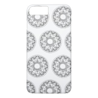 Coque iPhone 7 Plus Mandala de motif de cercle Artsy