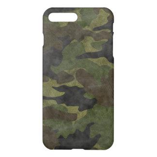 Coque iPhone 7 Plus Matte verte grunge fraîche de motif de camouflage