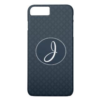 Coque iPhone 7 Plus Monogramme classique profond de coutume de motif