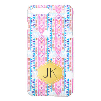 Coque iPhone 7 Plus Monogramme de Bohème chic et insouciant d'or