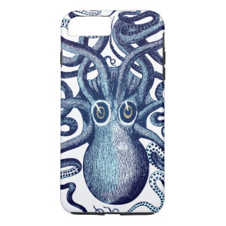 Coque iPhone 7 Plus Monstre de mer bleu de poulpe