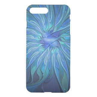 Coque iPhone 7 Plus Motif bleu d'imaginaire de fleur, art abstrait de