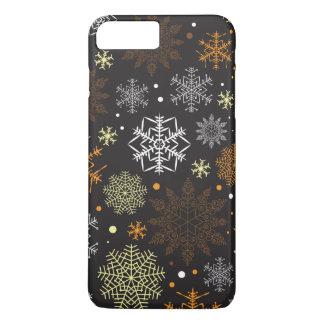 Coque iPhone 7 Plus Motif drôle de flocons de neige de Brown