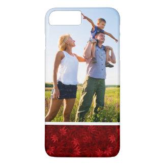 Coque iPhone 7 Plus Motif fait sur commande de feuille d'érable rouge