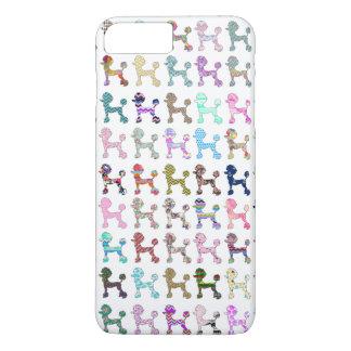 Coque iPhone 7 Plus Motif lunatique Girly de Chevron de caniche
