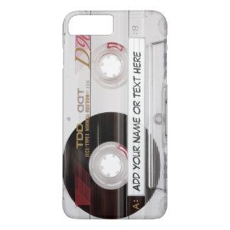 Coque iPhone 7 Plus Motif vintage de regard d'enregistreur à cassettes