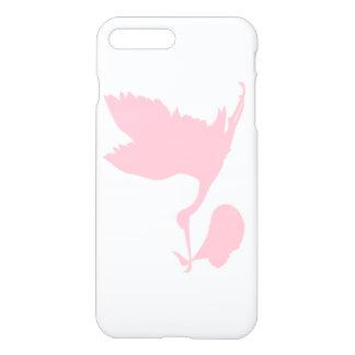 Coque iPhone 7 Plus Nouveau bébé de cigogne rose