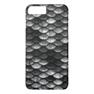 Coque iPhone 7 Plus Nuances grises et noires de motif d'échelles de