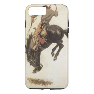 Coque iPhone 7 Plus Occidental vintage, cowboy sur un cheval