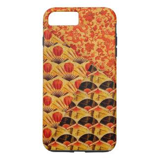 Coque iPhone 7 Plus Patchwork des fans et des motifs japonais de
