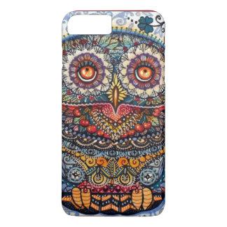 Coque iPhone 7 Plus Peinture graphique magique de hibou