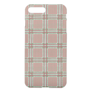 Coque iPhone 7 Plus Plaid rouge, rose et vert